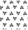 holly berry seamless happy christmas pattern vector image
