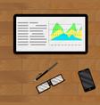 infographic and infochart economic vector image
