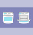 kitchen appliance oven vector image