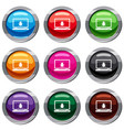 laptop set 9 collection vector image vector image