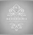letter a logo - classic luxurious silver vector image vector image