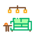 living room icon outline vector image