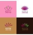Lotus design template for spa yoga health care vector image
