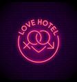 love hotel logo vector image