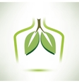lungs isolated symbol stylized icon vector image vector image