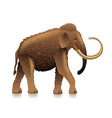 Mammoth isolated on white vector image