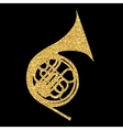 Musical Instrument Horn which is Used in Symphony vector image vector image