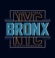 new york city typography design for t shirt vector image vector image