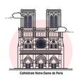 Notre-Dame de Paris Card vector image
