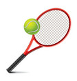object tennis racket and ball vector image vector image