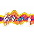 paper cut craft style music composition vector image