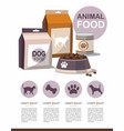 pets food dry pet food infographic vector image