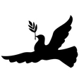 pigeon silhouette vector image vector image