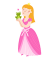 Princess and frog vector image vector image