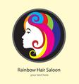 rainbow hair saloon logo design