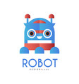 robot logo design element for company identity vector image vector image