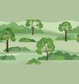 rural landscape background seamless summer nature vector image
