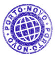 scratched textured porto-novo stamp seal vector image vector image