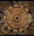seamless dark pattern with ethnic elements and vector image vector image