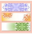 Set of three banner with pattern vector image vector image
