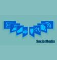 sign the card fan social networking recruitment vector image vector image