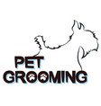 silhouettes dogs for grooming pets vector image