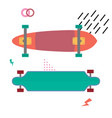 skateboard desk flat design skateboarding concept vector image vector image