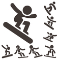 Snowboard icons vector image vector image