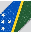 Solomon Islands grunge flag vector image vector image