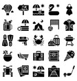 summer vacation related icon set 2 solid style vector image vector image