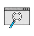 template computer with magnifying glass vector image vector image