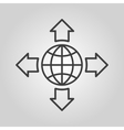 The navigation icon Location symbol Flat vector image vector image