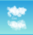 transparent white cloud on the sky realistic vector image