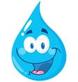 Water Drop Cartoon Character vector image vector image