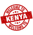 welcome to kenya red stamp vector image vector image