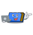with laptop memory card character cartoon vector image