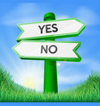 yes or no sign concept vector image