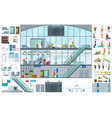 flat airport infographic template vector image
