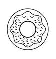 kawaii donut cartoon vector image