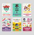 banners or cards set with of funny vector image