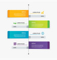 4 rectangle tab timeline infographic options vector image vector image