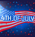 4th july celebration background with confetti vector image vector image