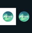 aurora polar lights - wavy green abstract backdrop vector image vector image