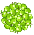 Background design with stylized fresh ripe apples vector image vector image