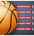 Background of Statistics Basketball vector image vector image