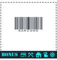 bar code icon flat vector image vector image