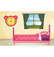 Bedroom setting vector image vector image