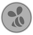 bee silver coin vector image vector image