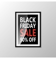 Black Friday type marketing template vector image vector image