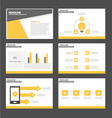 Black yellow presentation templates Infographic vector image vector image